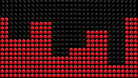 Treadmill - Elliptical Exercise Machine LED Display. Animation of red LED dots showing various levels of intensity of a treadmill or elliptical exercise machine stock footage