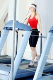 Treadmill exercise Stock Images