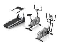 Treadmill, exercise bike, ski simulator Stock Photography