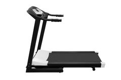 Treadmill fitness equipment isolated on white background Royalty Free Stock Image