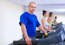 On the treadmill Royalty Free Stock Image