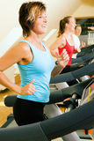 Treadmill in the gym Stock Photography