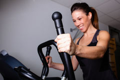 Treadmill home workout Royalty Free Stock Image