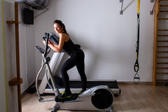 Treadmill home workout Stock Photos