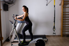 Treadmill home workout Stock Photography