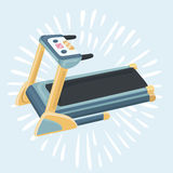 Treadmill icon cartoon. Vector funnny cartoon illustration of Treadmill. Single sport icon healthy, workout theme Stock Photo