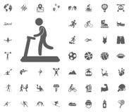 Treadmill icon. Sport illustration vector set icons. Set of 48 sport icons. Treadmill icon. Sport illustration vector set icons. Set of 48 sport icons Royalty Free Stock Image