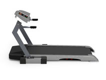 Treadmill isolated on white background, fitness Stock Images