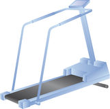 Treadmill isolated on white - vector Stock Photos