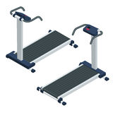 Treadmill isometric vector illustration. Treadmill isolated on white background. Stock Photo
