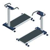 Treadmill isometric vector illustration. Treadmill isolated on white background. Stock Photo