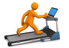 Treadmill Laptop Stock Photo