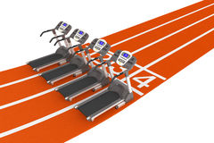 Treadmill Machine over Running Track Stock Photography