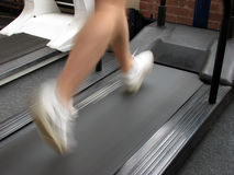 Treadmill man Stock Photography