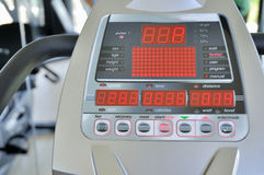 Treadmill Panel Stock Image