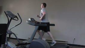 Treadmill run stock video footage