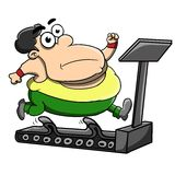 Treadmill. Somebody is doing the treadmill in order to lose weight Royalty Free Stock Images