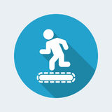 Treadmill or tapis roulant. Vector illustration of treadmill or tapis roulant single  icon Royalty Free Stock Images
