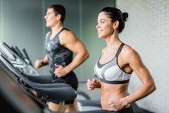 Treadmill training Stock Image