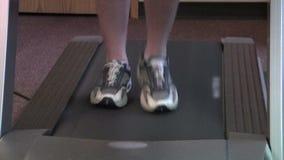 Treadmill walk stock video footage