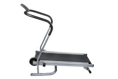 Treadmill on white. Object on white - sport treadmill isolated Stock Photo