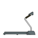 Treadmill on a white background Royalty Free Stock Photo