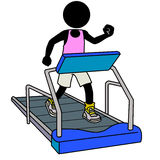 Treadmill workout royalty free illustration