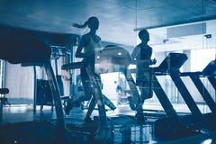 Treadmill workout Stock Image