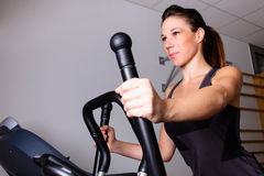 Treadmill workout Royalty Free Stock Photo