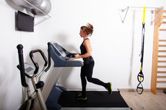 Treadmill workout Royalty Free Stock Image