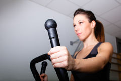 Treadmill workout Royalty Free Stock Images