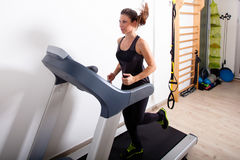 Treadmill workout Stock Image