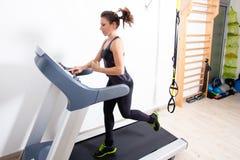 Treadmill workout Stock Photos