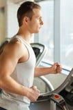 Treadmill workout. Stock Photos