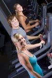 treadmills ανθρώπων νεολαίες Στοκ εικόνα με δικαίωμα ελεύθερης χρήσης