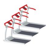 Treadmills απεικόνιση που απομονώνεται στο άσπρο υπόβαθρο Στοκ φωτογραφία με δικαίωμα ελεύθερης χρήσης