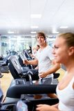 On treadmills Stock Photos