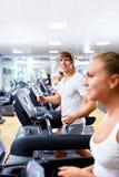 On treadmills Stock Photos