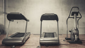 Treadmills exercise machines Stock Image
