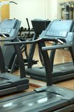 Treadmills at the fitness hall Royalty Free Stock Image