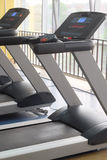 Treadmills in a fitness hall Royalty Free Stock Photos