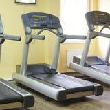 Treadmills in a fitness hall Stock Photos