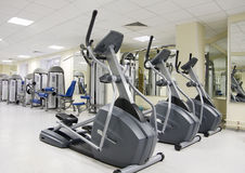 Treadmills at a health club Stock Images