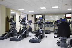 Treadmills at a health club Stock Photos