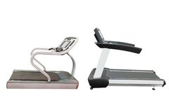 Treadmills isolated Stock Image