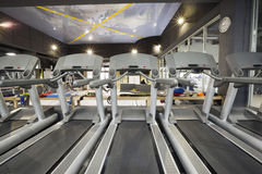 Treadmills in a modern gym Royalty Free Stock Photo