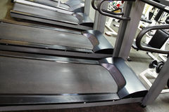 Treadmills in a row Royalty Free Stock Photo