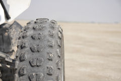 Treads and grooves on a Quad wheel tyre Stock Image