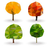 Treangle  tree set. Stylized  tree in treangle design Royalty Free Stock Images