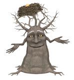 Treant. Fantasy Tree (Treant) – amusing guard of forest with isolation on a white background Stock Photos